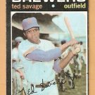 MILWAUKEE BREWERS TED SAVAGE 1971 TOPPS # 76 VG+