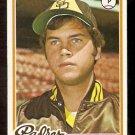 SAN DIEGO PADRES BOB OWCHINKO 1978 TOPPS # 164 EX+