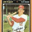 ST LOUIS CARDINALS JOE HAGUE 1971 TOPPS # 96 good