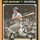 KANSAS CITY ROYALS RICH SEVERSON 1971 TOPPS # 103 EX+/EM