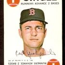 BOSTON RED SOX CARL YASTRZEMSKI YAZ 1968 TOPPS GAME CARD # 3