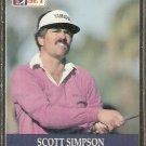 SCOTT SIMPSON 1990 PRO SET PGA TOUR CARD # 12