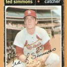 ST LOUIS CARDINALS TED SIMMONS ROOKIE CARD RC 1971 TOPPS # 117 good/fair