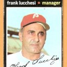 PHILADELPHIA PHILLIES FRANK LUCCHESI 1971 TOPPS # 119 good