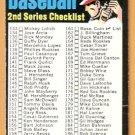 2ND SERIES CHECKLIST 1971 TOPPS # 123 VG UNMARKED