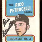 BOSTON RED SOX RICO PETROCELLI AUTOGRAPHED 1970 TOPPS STORY BOOKLET