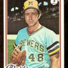 MILWAUKEE BREWERS MIKE CALDWELL 1978 TOPPS # 212 VG+/EX