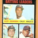 BATTING LEADERS CALIFORNIA ANGELS RED SOX CARL YASTRZEMSKI YAZ TWINS TONY OLIVA 1971 TOPPS # 61 EM