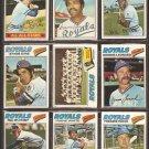 1977 TOPPS KANSAS CITY ROYALS TEAM LOT {24} GEORGE BRETT SPLITTORFF McRAE OTIS PATEK F WHITE ROJAS +