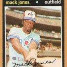 MONTREAL EXPOS MACK JONES 1971 TOPPS # 142 EM/NM