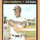 HOUSTON ASTROS JOHN MAYBERRY 1971 TOPPS # 148 VG/EX