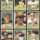 1976 TOPPS PITTSBURGH PIRATES TEAM LOT {12} AL OLIVER ZISK MEDICH REUSS STENNETT ++