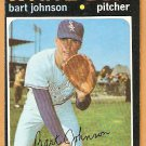 CHICAGO WHITE SOX BART JOHNSON 1971 TOPPS # 156 EM/NM OC