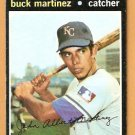 KANSAS CITY ROYALS BUCK MARTINEZ 1971 TOPPS # 163 VG/EX