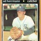CHICAGO WHITE SOX ED HERRMANN 1971 TOPPS # 169 good
