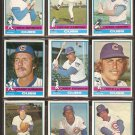 1976 TOPPS CHICAGO CUBS TEAM LOT {9} RICK MONDAY ANDY THORNTON +++