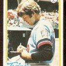MINNESOTA TWINS DAVE GOLTZ 1978 TOPPS # 249 EX
