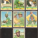 1976 TOPPS OAKLAND ATHLETICS TEAM LOT 7 DIFFERENT MIKE NORRIS ROOKIE SAL BANDO NORTH HOLTZMAN HARPER