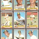 1976 TOPPS SAN DIEGO PADRES TEAM LOT 10 DIFFERENT DAVE WINFIELD RANDY JONES DOUG RADER MIKE IVIE +