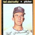 KANSAS CITY ROYALS TED ABERNATHY 1971 TOPPS # 187 EX/EM OC