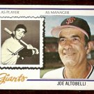 SAN FRANCISCO GIANTS JOE ALTOBELLI 1978 TOPPS # 256