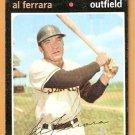 SAN DIEGO PADRES AL FERRARA 1971 TOPPS # 214 good