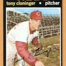 CINCINNATI REDS TONY CLONINGER 1971 TOPPS # 218 NM