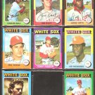 CHICAGO WHITE SOX 8 DIFF 1975 TOPPS JIM KAAT CARLOS MAY JORGE ORTA TERRY FORSTER BILL SHARP HERRMANN