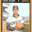 CALIFORNIA ANGELS CLYDE WRIGHT 1971 TOPPS # 240 EX/EM