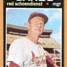ST LOUIS CARDINALS RED SCHOENDIENST 1971 TOPPS # 239