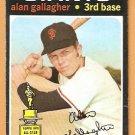 SAN FRANCISCO GIANTS ALAN GALLAGHER 1971 TOPPS # 224 VG