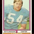 DETROIT LIONS ED FLANAGAN 1974 TOPPS # 111 EX/EM