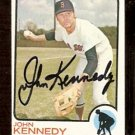 BOSTON RED SOX JOHN KENNEDY AUTOGRAPHED 1973 TOPPS # 437