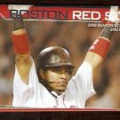 BOSTON RED SOX 2008 POCKET SCHEDULE MANNY RAMIREZ