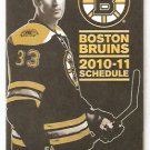 BOSTON BRUINS 2010 - 11 POCKET SCHEDULE ZDENO CHARA