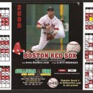 BOSTON RED SOX 2009 MAGNETIC SCHEDULE WITH DUSTIN PEDROIA