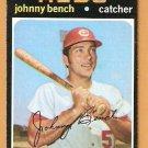 CINCINNATI REDS JOHNNY BENCH 1971 TOPPS # 250 VG+