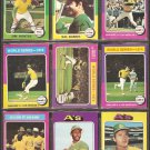 OAKLAND ATHLETICS 11 DIFF 1975 TOPPS Jim Hunter Reggie Jackson World Series Bando Rudi North Fingers