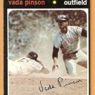 CLEVELAND INDIANS VADA PINSON 1971 TOPPS # 275 VG