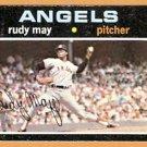 CALIFORNIA ANGELS RUDY MAY 1971 TOPPS # 318