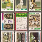OAKLAND ATHLETICS 19 DIFF 1974 TOPPS JIM HUNTER SAL BANDO ROLLIE FINGERS REGGIE JACKSON WORLD SERIES