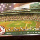 BOSTON RED SOX 2002 POCKET SCHEDULE A NEW ENGLAND TRADITION