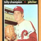 PHILADELPHIA PHILLIES BILLY CHAMPION 1971 TOPPS # 323 G/VG