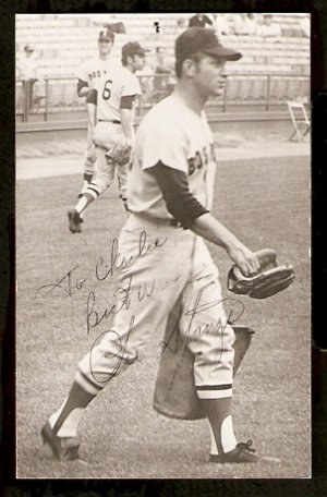 BOSTON RED SOX LEE STANGE AUTOGRAPHED POSTCARD