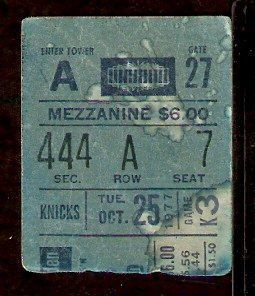 CLEVELAND CAVALIERS NEW YORK KNICKS 1977 TICKET STUB WALT FRAZIER McADOO EARL MONROE