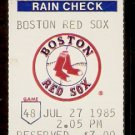 SEATTLE MARINERS BOSTON RED SOX 1985 TICKET STUB JIM RICE TONY ARMAS GORMAN THOMAS (2) CALDERON HR