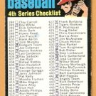 1971 TOPPS 4th SERIES CHECKLIST # 369 marked
