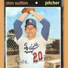 LOS ANGELES DODGERS DON SUTTON 1971 TOPPS # 361 fair/good