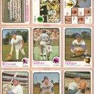 LOS ANGELES DODGERS 13 DIFF 1973 TOPPS STEVE GARVEY BILL BUCKNER  WALT ALSTON TEAM YEAGER RC MOTA +
