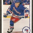 NEW YORK RANGERS KEVIN MILLER ROOKIE CARD RC 1990 UPPER DECK # 444